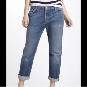 Anthro Holding Horses Distressed Boyfriend Jeans